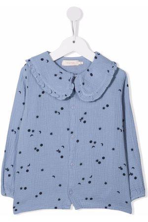 Tiny Cottons Star-print cotton blouse