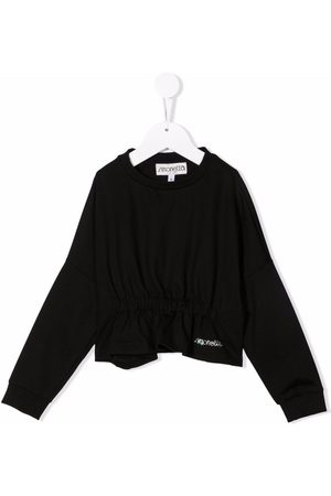 Simonetta Rhinestone-embellished logo blouse