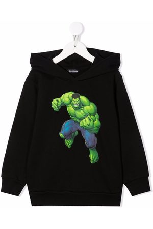 Balenciaga Hulk graphic-print cotton hoodie