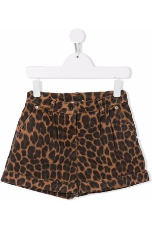 P.a.r.o.s.h. Leopard print fitted shorts