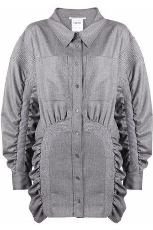 Stella McCartney Ruched wool shirt dress