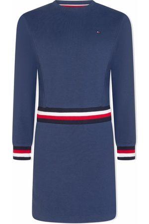 Tommy Hilfiger Meisjes Casual jurken - Logo-striped jumper dress