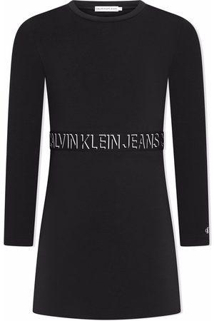 Calvin Klein Logo-print longsleeved dress