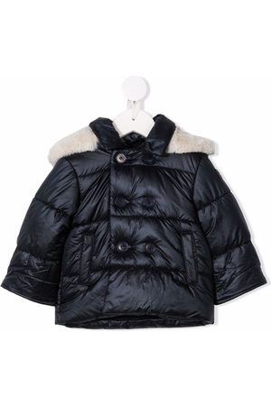 Il gufo Contrast-trim double-breasted padded jacket