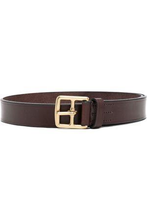 Anglozine Leather buckled belt