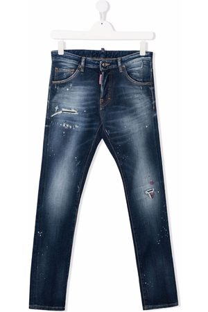 Dsquared2 TEEN mid-rise straight-leg jeans