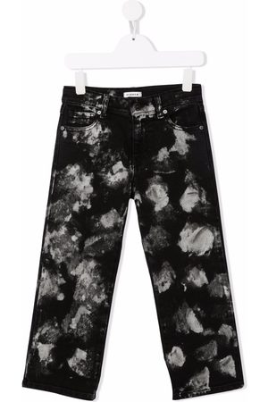 P.a.r.o.s.h. Distressed-finish straight-leg jeans