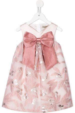 HUCKLEBONES LONDON Trapeze floral-jacquard dress