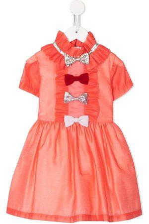 HUCKLEBONES LONDON Multi-bow bodice dress