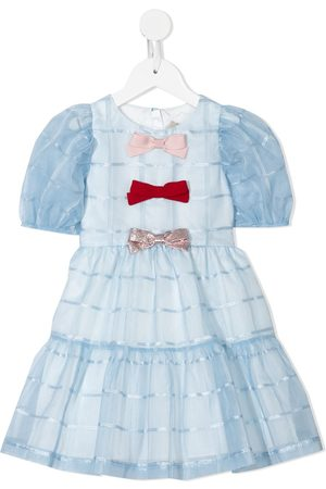 HUCKLEBONES LONDON Puff-sleeve bodice dress