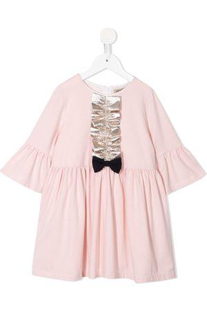 HUCKLEBONES LONDON Meisjes Feestjurken - Bell-sleeved jersey dress