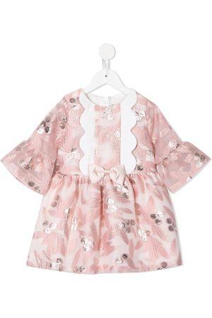 HUCKLEBONES LONDON Meisjes Feestjurken - Bell-sleeved tea dress
