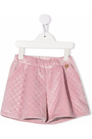 MISS BLUMARINE Quilted-effect shorts