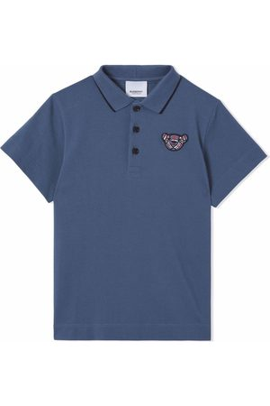 Burberry Embroidered-motif polo shirt