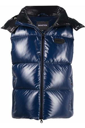 Duvetica Heren Bodywarmers - Logo-patch feather-down padded gilet