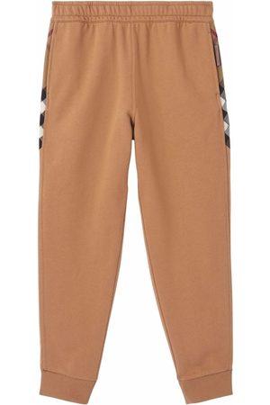 Burberry Dames Trainingspakken - Check-panel cotton jogging pants