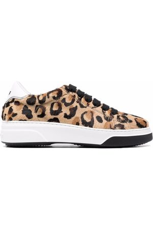 Dsquared2 Dames Sneakers - Leopard-print lace-up trainers