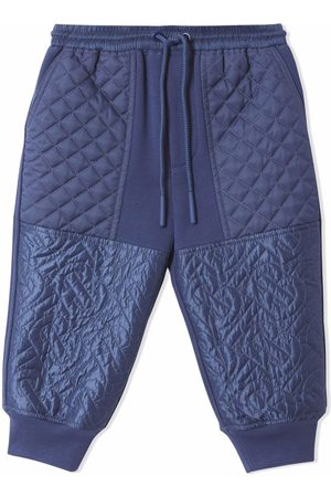 Burberry Monogram quilted-panel track pants