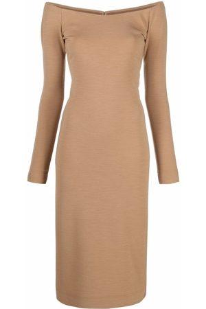Fendi Off-shoulder sheath dress