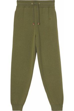 Burberry Monogram-motif wool-cashmere blend jogging pants