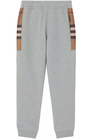 Burberry Heren Joggingbroeken - Check-panel track pants