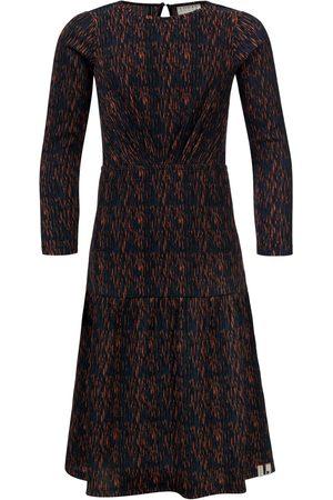 LOOXS Revolution Maxi jurk navy/terra print voor meisjes in de kleur