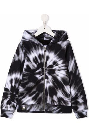 Philipp Plein Meisjes Hoodies - Tie-dye cotton hoodie