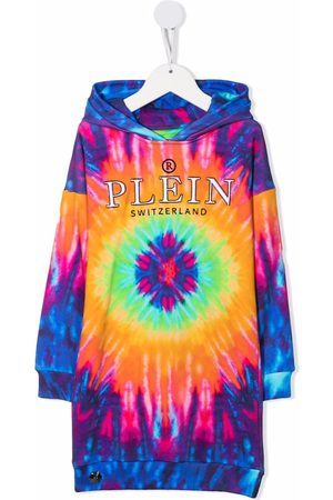 Philipp Plein Tie-dye print hooded dress