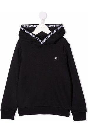 Calvin Klein Logo-print hooded jumper
