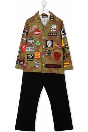 Dsquared2 Jongens Broeken - Patchwork-detail shirt trouser set
