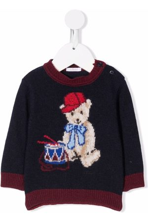 Le Bebé Enfant Sweaters - Knitted teddy bear jumper