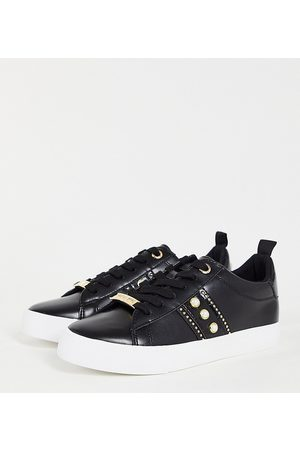 Miss KG Wide fit kaylee lace up trainers in black
