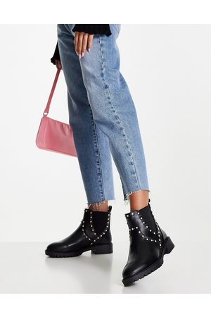 Miss KG Hetty studded chelsea boots in black