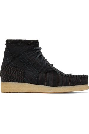 BY WALID Heren Veterschoenen - Embroidered Wool Anka Desert Boots