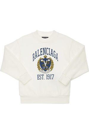 Balenciaga Meisjes Sweaters - Printed Cotton Sweatshirt