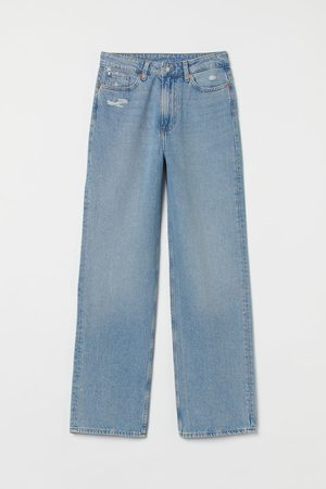 H & M Dames Straight - Loose Straight High Jeans