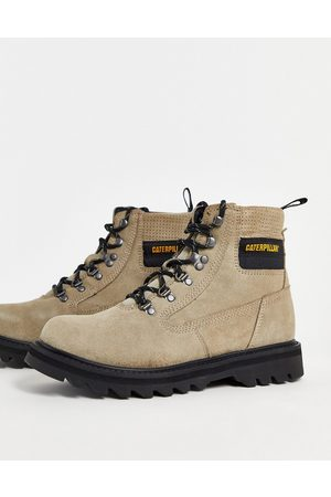 CAT Graviton lace up hiker boots in light taupe-Grey