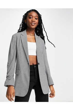 French Connection Tailored oversized blazer co-ord in grey-Multi