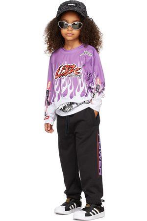 032c T-shirts - Kids Motocross Flames Long Sleeve T-Shirt