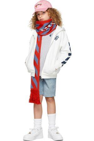 OFF-WHITE Hoodies - Kids Rounded 'Off' Zip-Up Hoodie