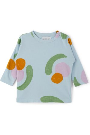 Bobo Choses T-shirts - Baby Blue Fruits All Over Long Sleeve T-Shirt