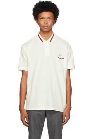 Paul Smith Heren Poloshirts - Off-White & Red Happy Polo