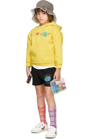 Kids Worldwide Hoodies - SSENSE Exclusive Kids Yellow 'I Love The Earth' Hoodie