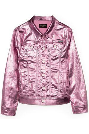 Dolce & Gabbana Kids Metallic-effect denim jacket