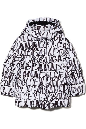 Dolce & Gabbana Graffiti print puffer jacket