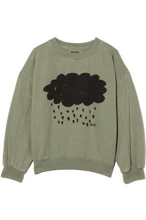 Bobo Choses Cloud print crew neck sweatshirt