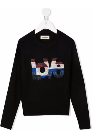 Zadig & Voltaire Metallic-logo crewneck sweater