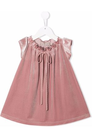 LA STUPENDERIA Velvet-effect lace-up dress