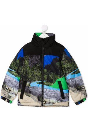 Stella McCartney Graphic-print zip-up coat