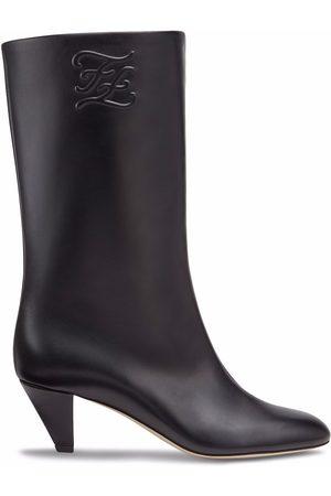 Fendi Karligraphy-motif 55mm boots